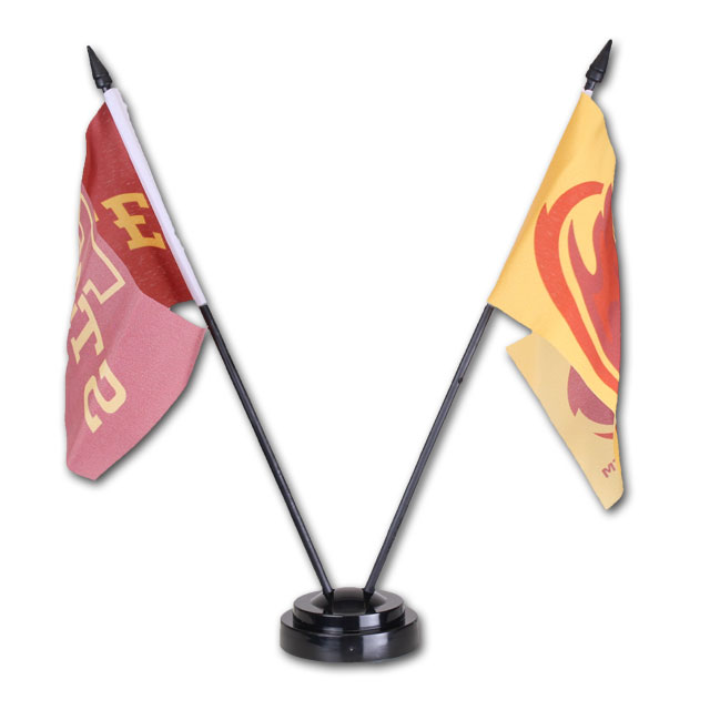 Image For Iowa State Desk Flag Set