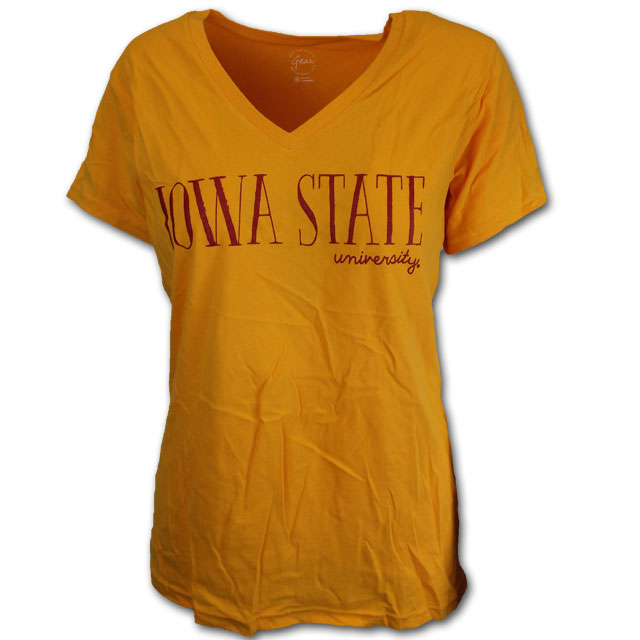 Image For Women's Gold V-Neck * WAS $21.99