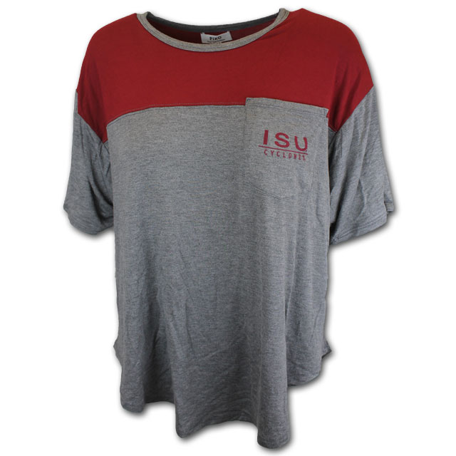 Cover Image For Women's Gray ISU T-Shirt