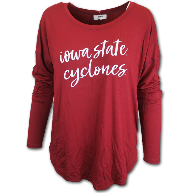 Cover Image For Women's Cardinal Long Sleeve T-Shirt