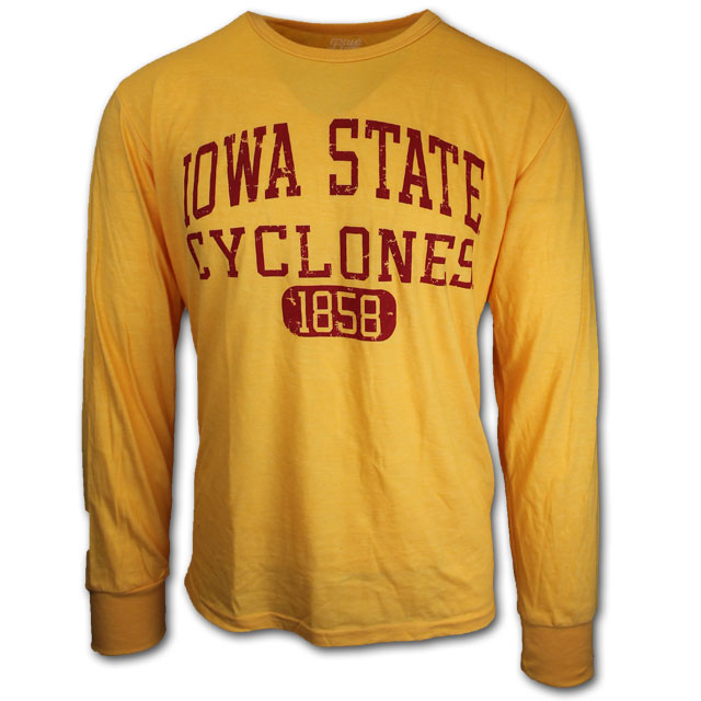 Image For Gold Long Sleeve Iowa State Cyclones T-Shirt