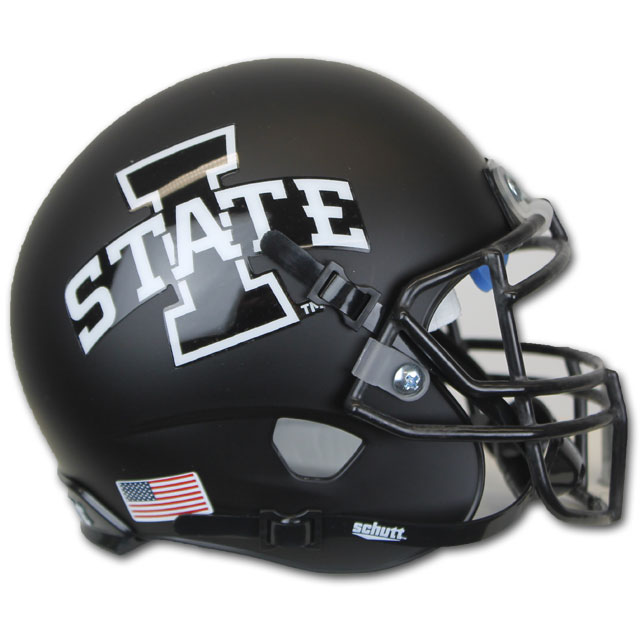 Image For Authentic Mini Matte Black I-State Helmet