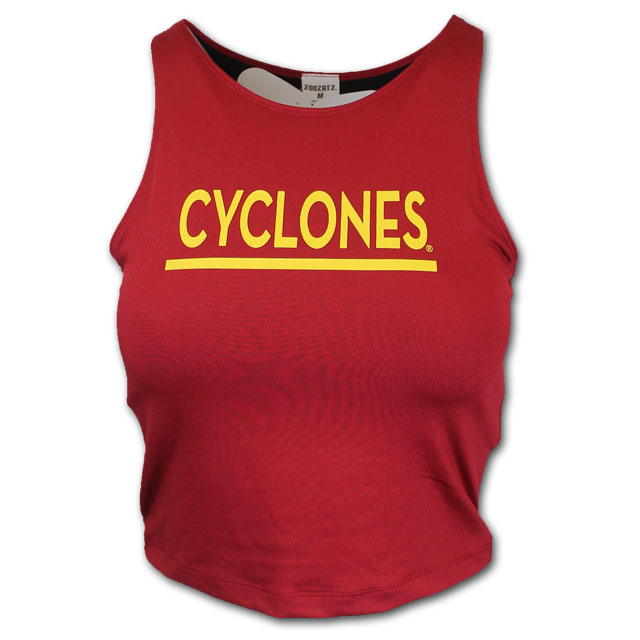 Image For Women's Cropped Tank (Cardinal) *WAS $24.99