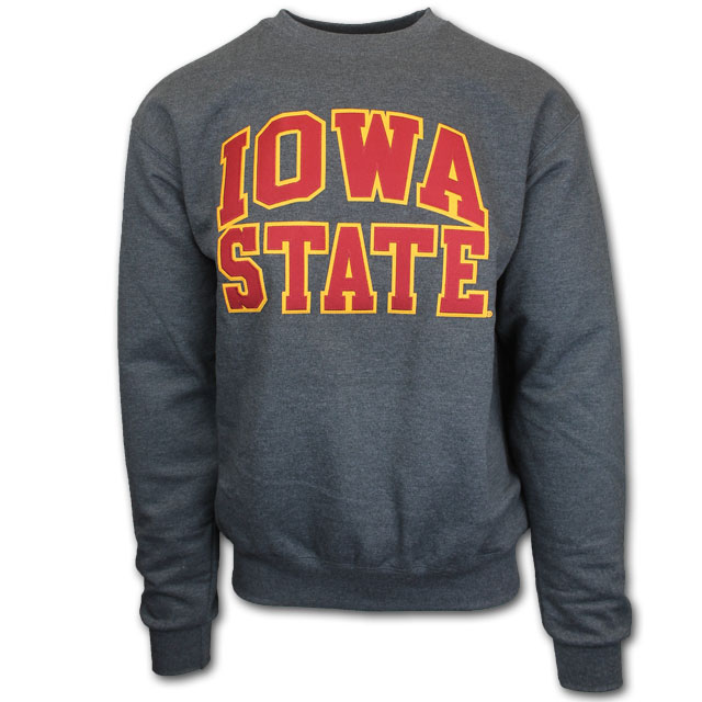 Cover Image For Champion® Charcoal Iowa State Crewneck