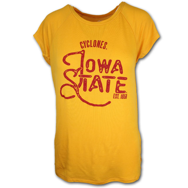 Image For Women's Gold Iowa State T-Shirt *WAS 34.99