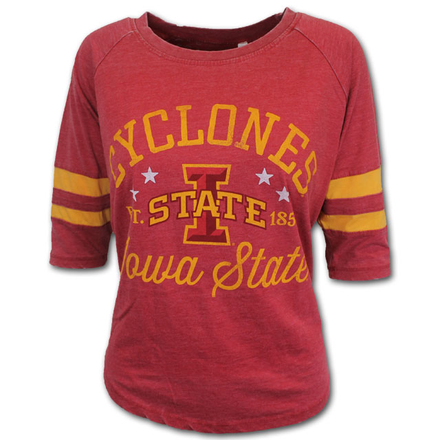 Image For Women's 3/4 Sleeve Cyclones T-Shirt
