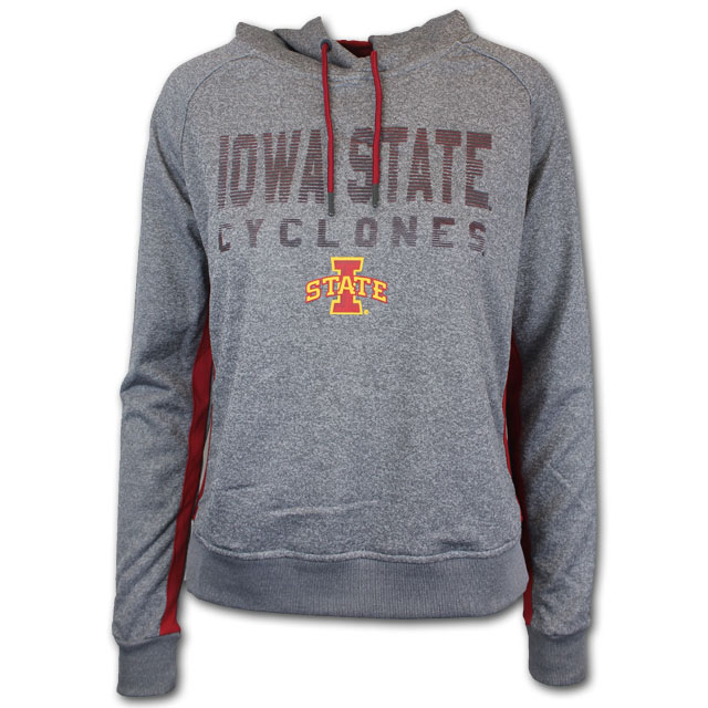 Cover Image For Colosseum® Women's Iowa State Hoodie (Grey)