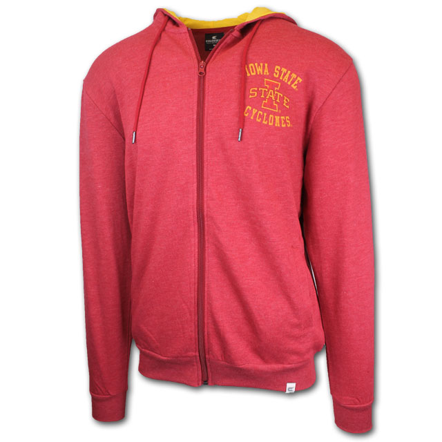 Image For Colosseum® Full Zip Hooded Sweatshirt (Cardinal)