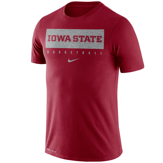 Cover Image For Nike® Iowa State Basketball T-Shirt (Cardinal)