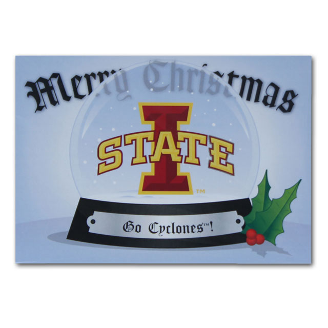 Image For ISU Snow Globe Greeting Card 10pk