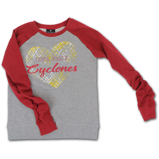 Image For Colosseum® Girls Scrunchy Sleeves Crewneck