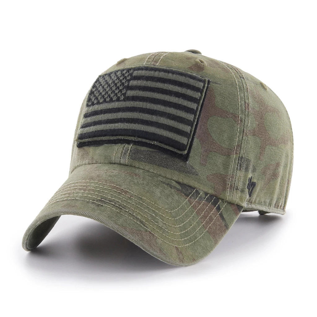Image For OHT Camouflage USA Flag '47 Clean Up Cap