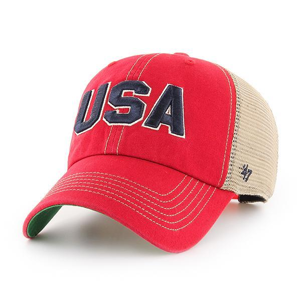 Image For '47 Clean Up OHT Red USA Trawler Cap