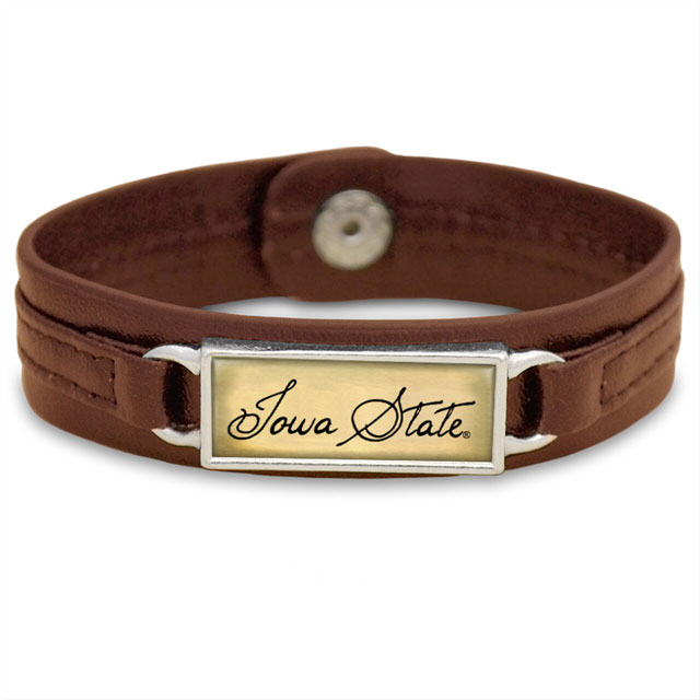 Image For Iowa State Leather Bracelet