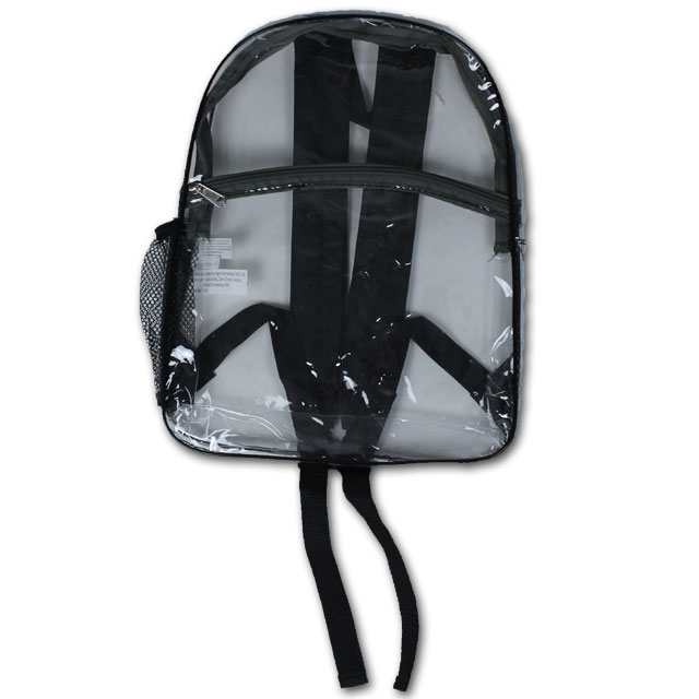 Image For Clear Backpack (Black)