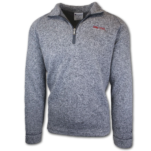 Cover Image For Champion® 1/4 Zip Grey Sweater
