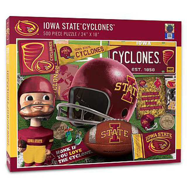 Image For Iowa State Retro 500-Piece Puzzle