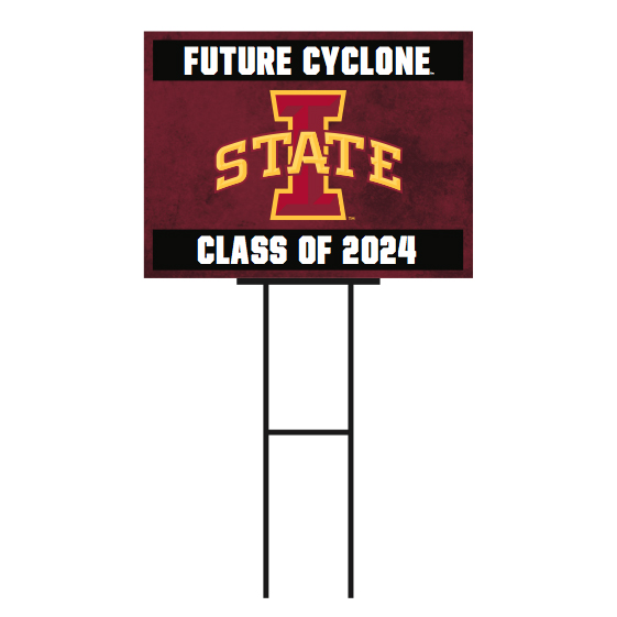 Image For I-State Future Cyclone Class of 2024 Yard Sign