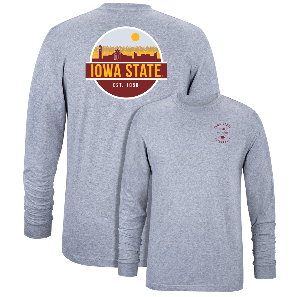 Image For Iowa State Skyline Long Sleeve T-Shirt