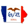 Image for State of Iowa Flag Decal