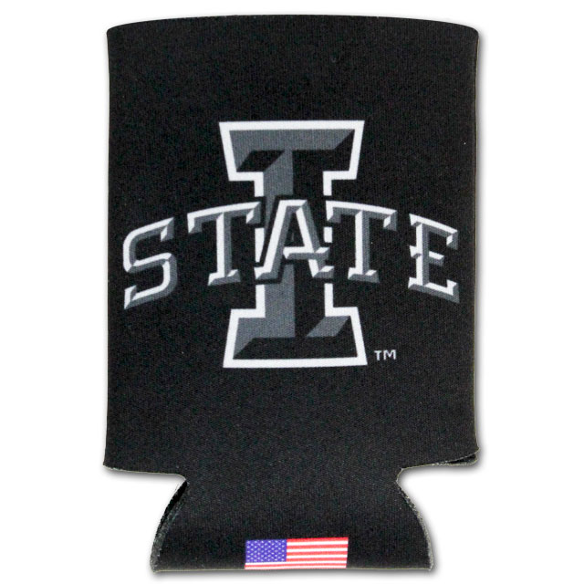 Image For I-State Black Can Cooler