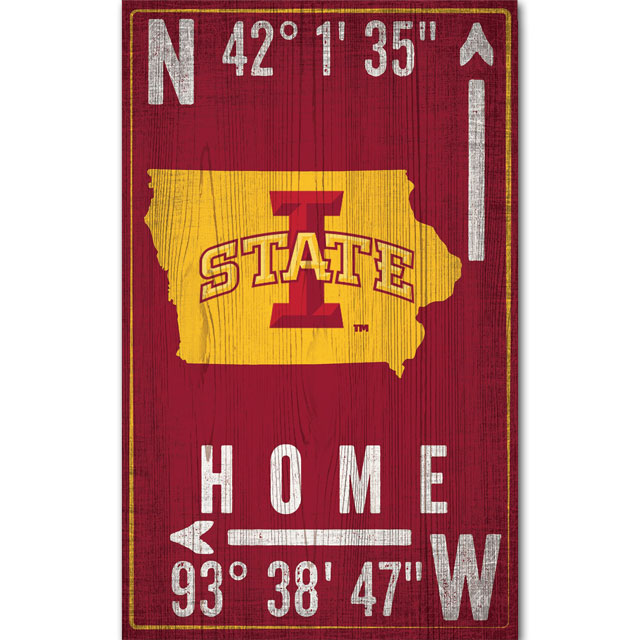 Image For Iowa State Ames Coordinates Sign