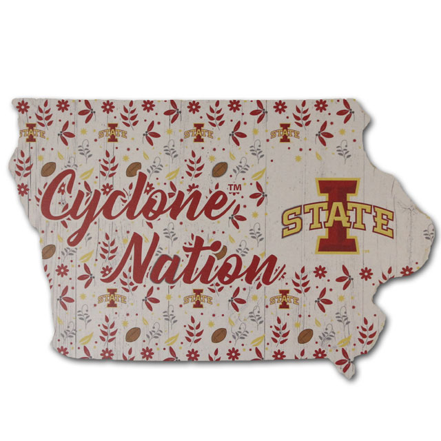 Image For Floral Iowa State Sign