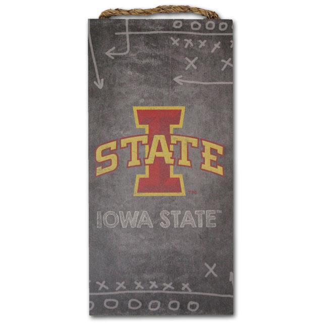 Image For Iowa State Chalkboard Playbook Sign