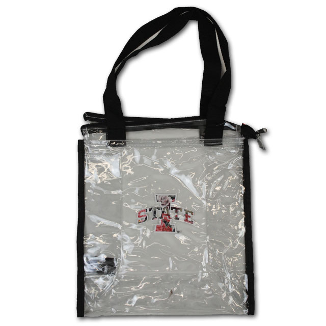 Image For Clear Square Floral Stadium Tote