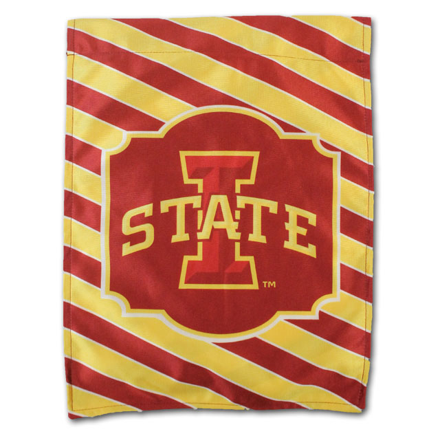 Image For I-State Stripped Garden Flag