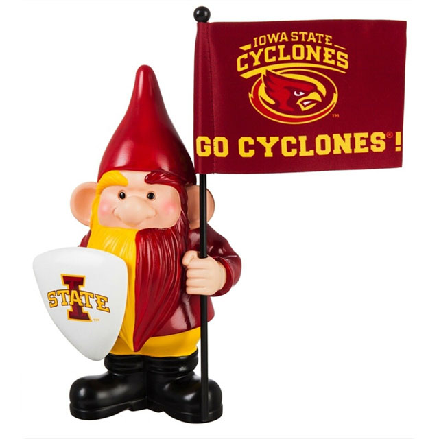 "Image For Iowa State Cyclones 10"" Garden Gnome Flag Holder"