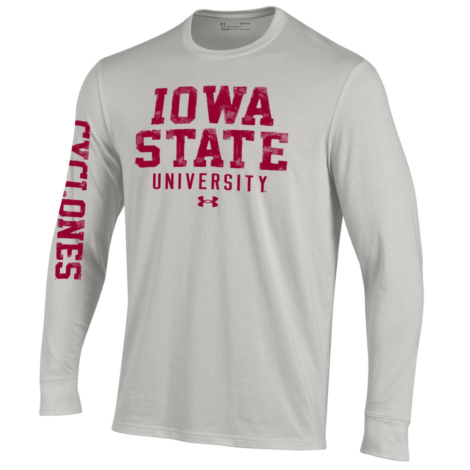Image For Under Armour® Long Sleeve Grey T-Shirt