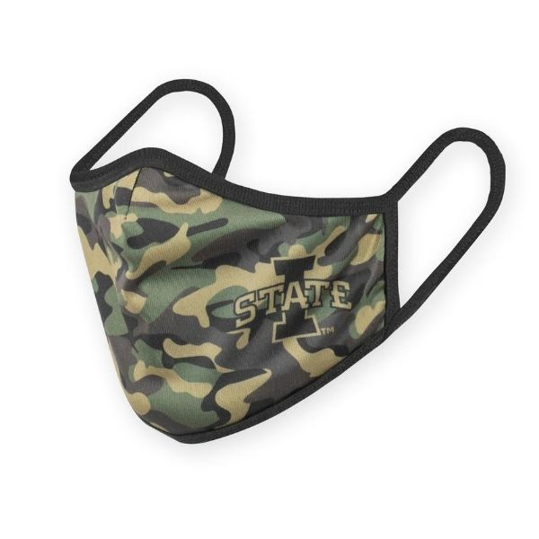 Image For Camo I-State Youth Face Mask