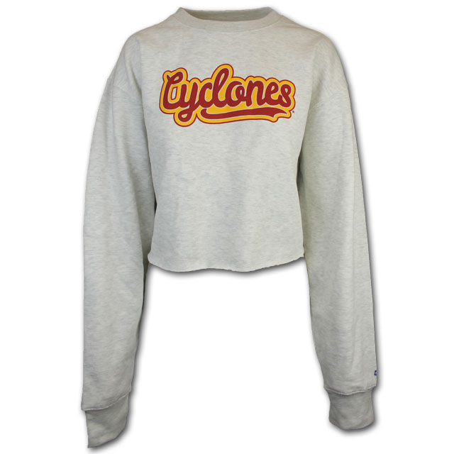 Image For Blue 84 Women's Cropped Cyclones Crewneck * WAS $42.99