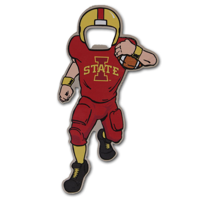 Image For Iowa State Football Player Bottle Opener