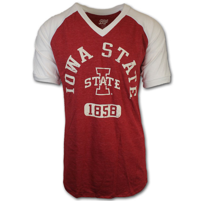 Cover Image For Blue 84 Iowa State V-Neck T-Shirt