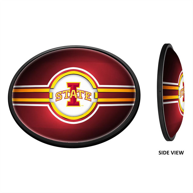 Image For Iowa State Cyclones Oval Slimline Illuminated Wall Sign