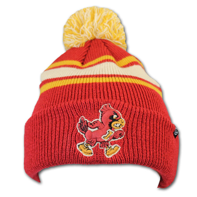 Cover Image For Zephyr® Cardinal Tan and Gold Walking Cy Pom Beanie