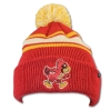 Zephyr® Cardinal Tan and Gold Walking Cy Pom Beanie Image