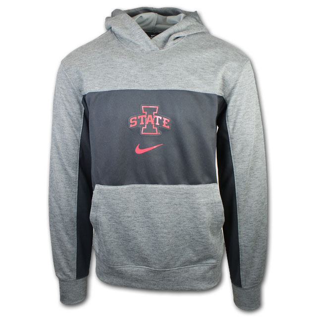 Image For Nike® Black and Grey I-State Hooded Sweatshirt