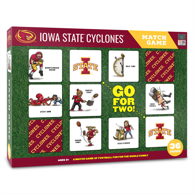 Image For NCAA Iowa State Cyclones Licensed Memory Match Game