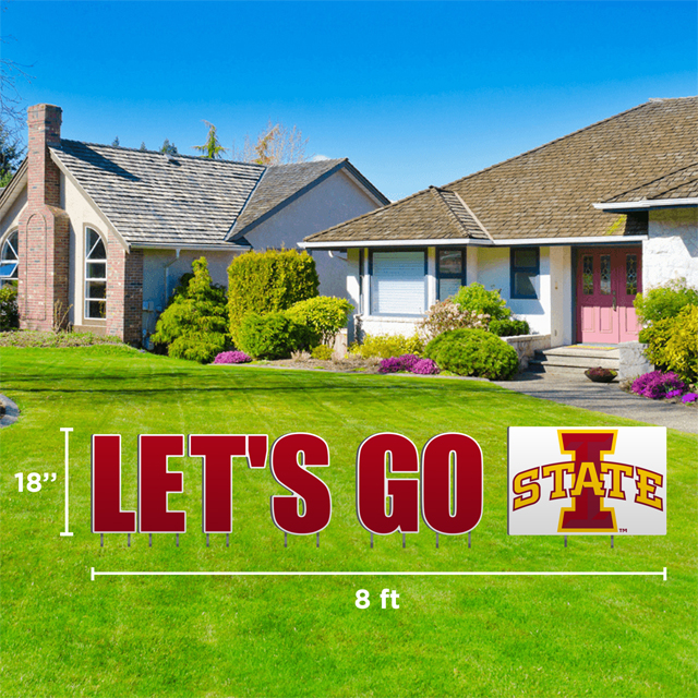 Cover Image For Let's Go I-State Yard Sign