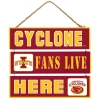 Cyclone Fans Live Here Sign Image